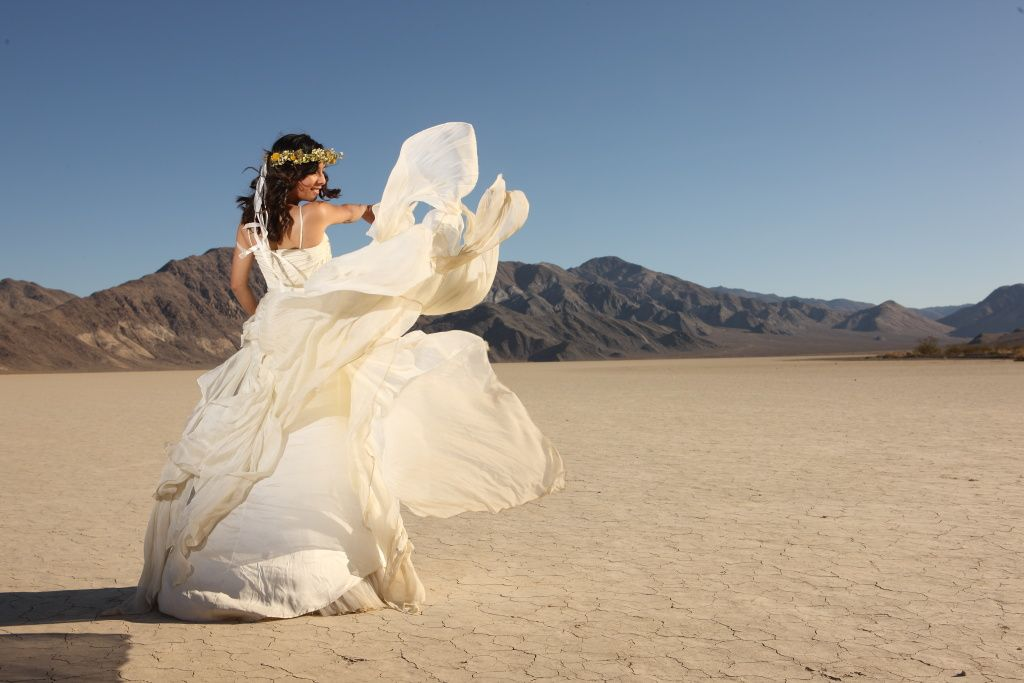 Paul & Kat / Bride wore the Cascading Goddess Gown by Catherine ...