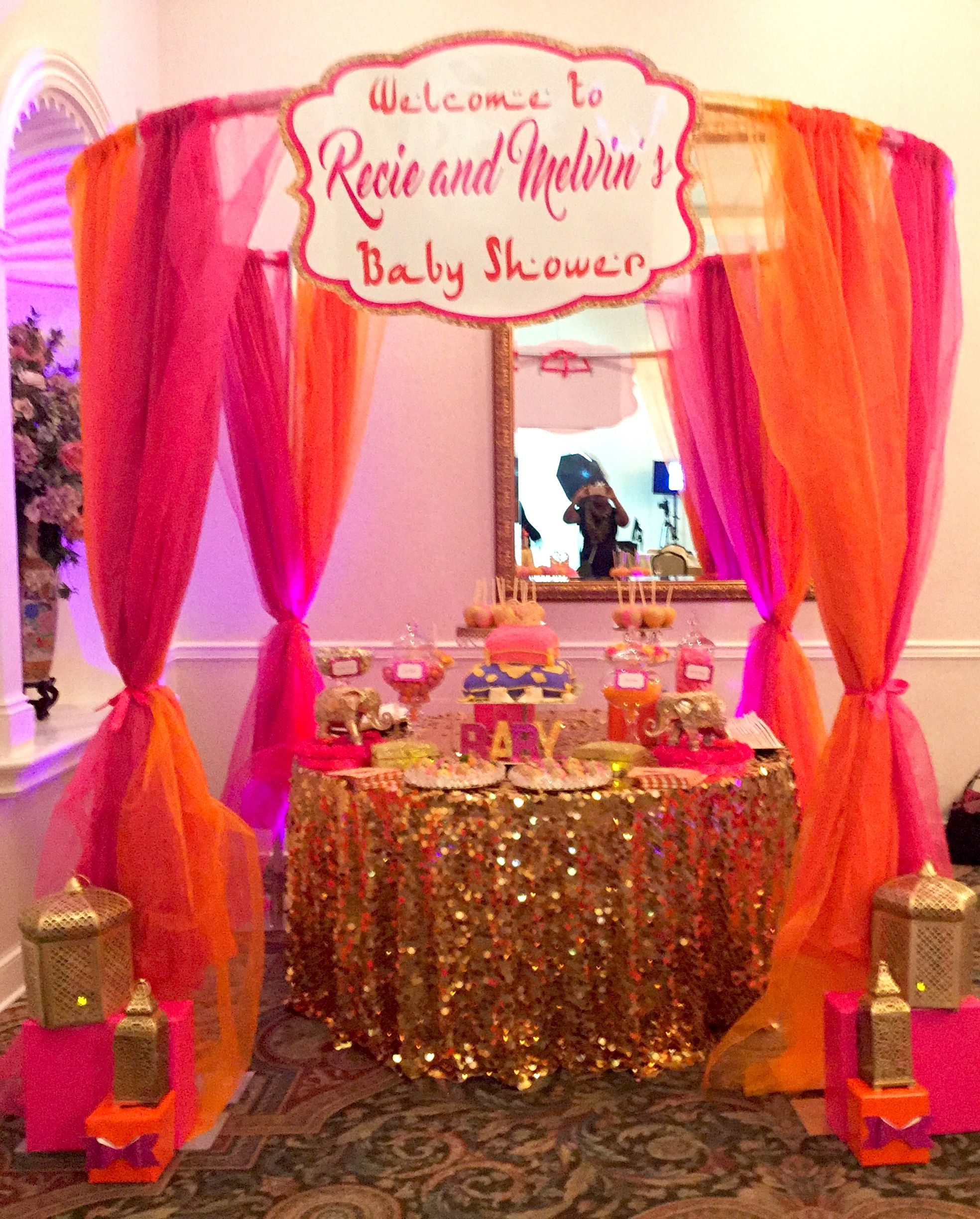 Moroccan Theme Baby Shower Table By Glam Candy Buffets!