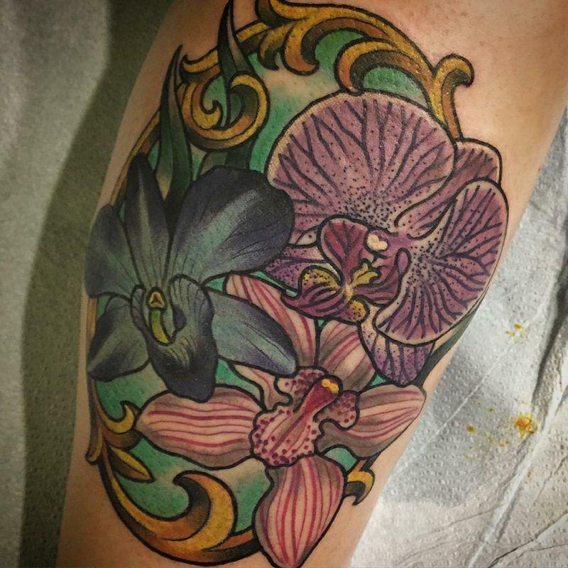 Orchideen Tattoo Ideen Entwürfe Und Bedeutungen Tattoos