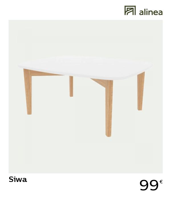 Alinea Siwa Table Basse Blanche Avec Pieds En Chene H35cm Meubles Salon Tables Basses Et D Appoint Alinea Deco Table Basse Blanche Table Basse Table