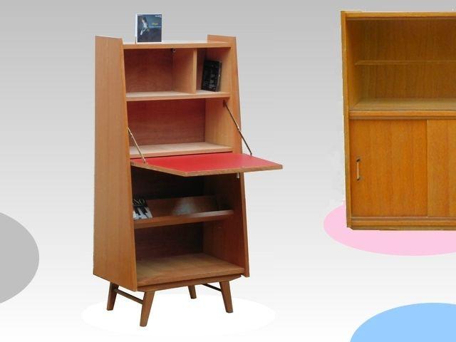 rare secretaire vintage annees 1960 vendu meubles d co vintage design scandinave meubles. Black Bedroom Furniture Sets. Home Design Ideas