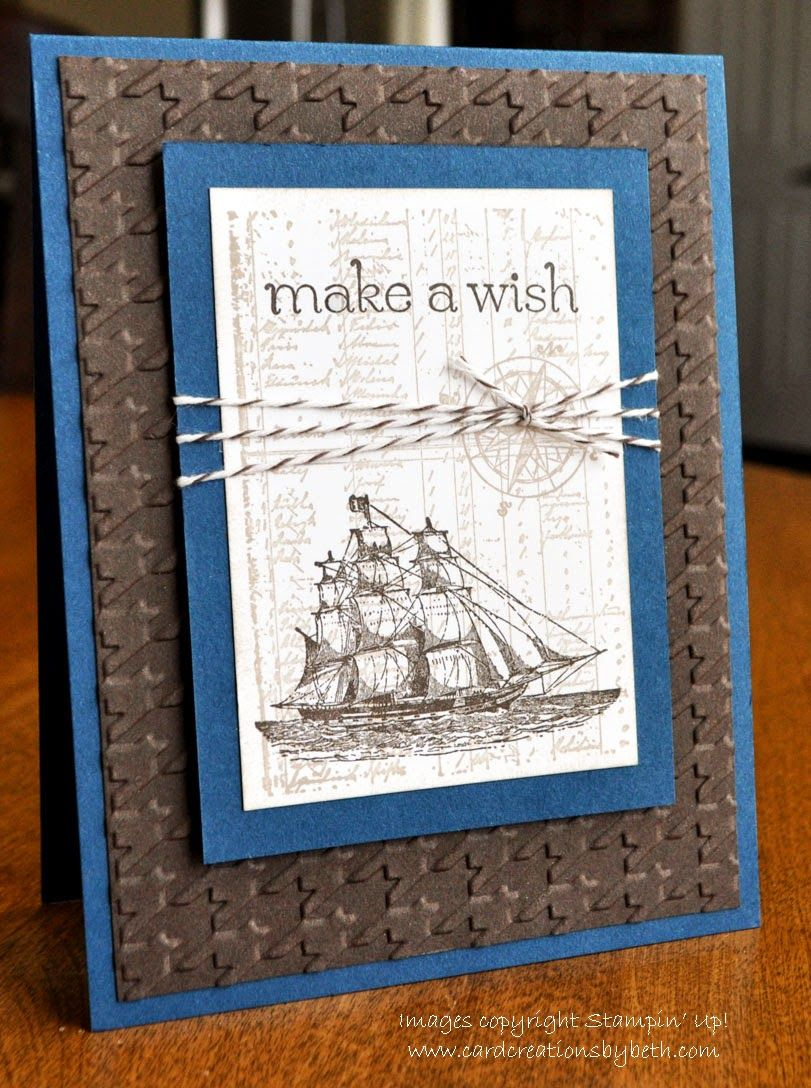 Stampin Up Masculine Card The Open Sea Case Card Creations By