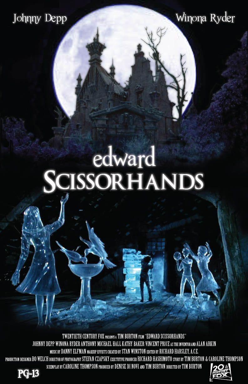 Edward Scissorhands 1990 Alternative Movie Poster Movieposter