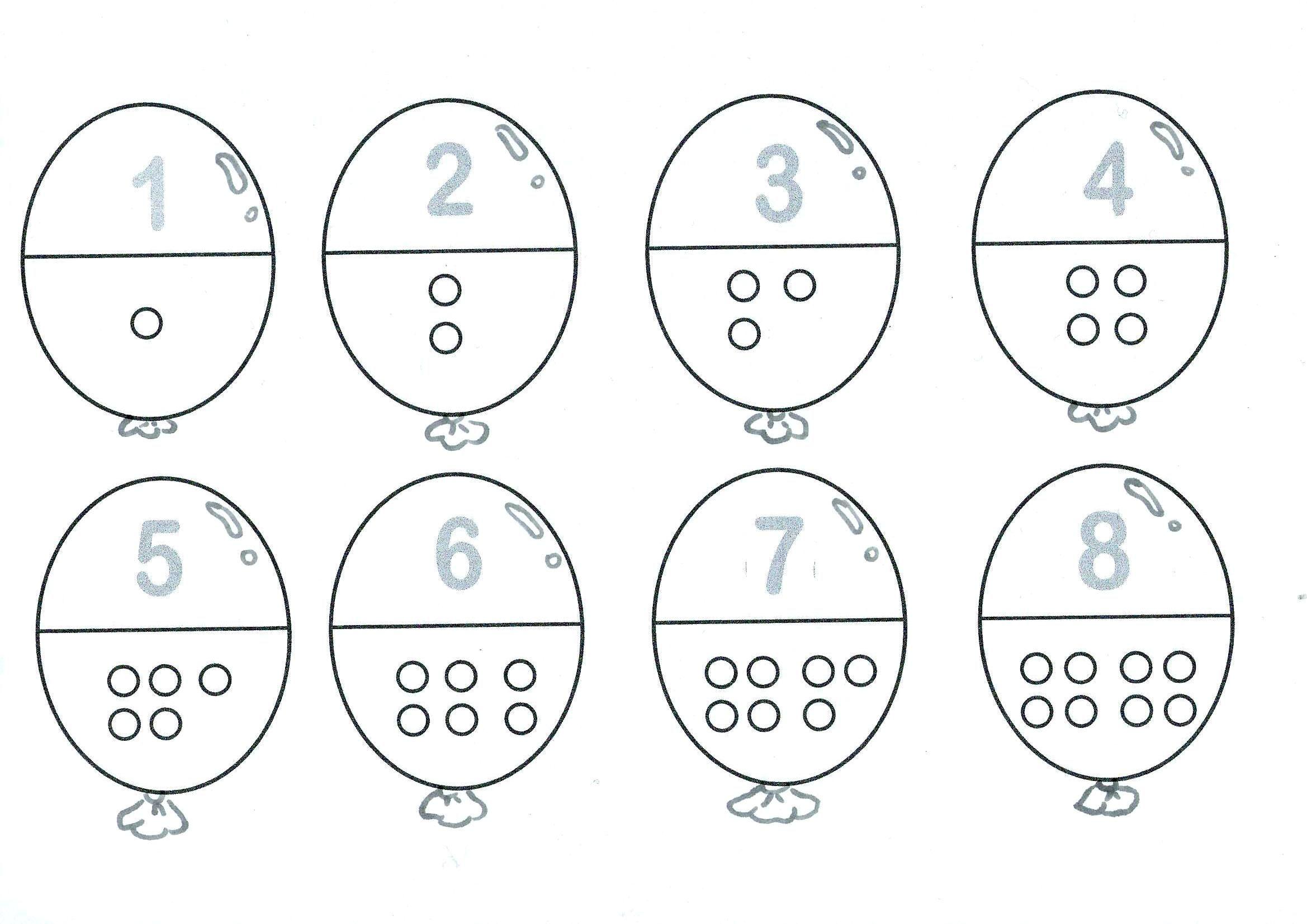 Ballonnen Getalbeelden Cijfers Zelf Gemaakt In Word