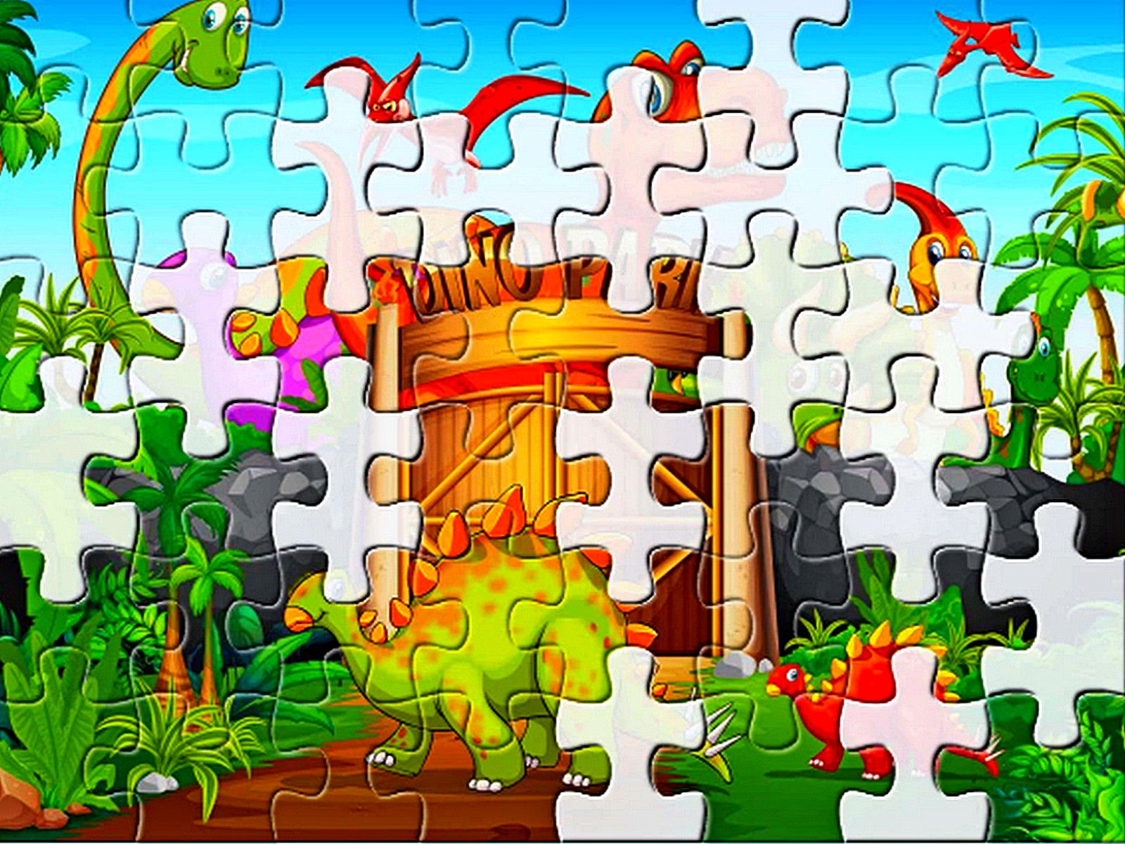 Game of the day Dinosaurs Jigsaw Deluxe Use your mouse or