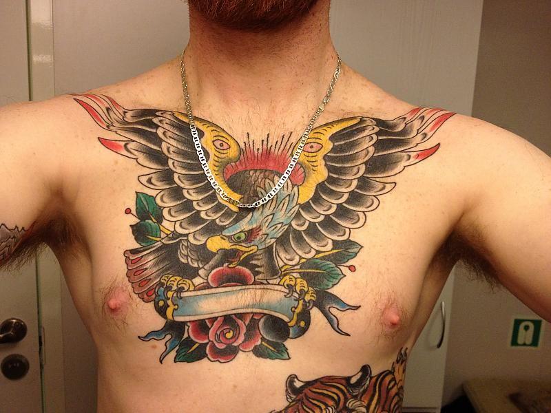 Scott Sylvia Eagle Chest Tattoo Picture Con Imagenes Tatuajes