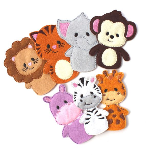Noah's Ark Finger Puppets, Busy Bag, Travel Game, Animal ...