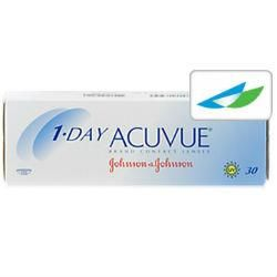 Acuvue 1 Day - $21.35 at Replace My Contacts | Ideal for those who suffer from seasonal allergies, everyday lens wearers or for the occasional change from glasses, 1-Day Acuvue lenses deliver ocular freshness and comfort every time. Wear them and toss them – simple as that. No lens care required, and there are no cases to fiddle with or solution to spill over. These daily disposable also boast incredible UV protection capabilities: 96% UV-A and 99% UV-B blockage.