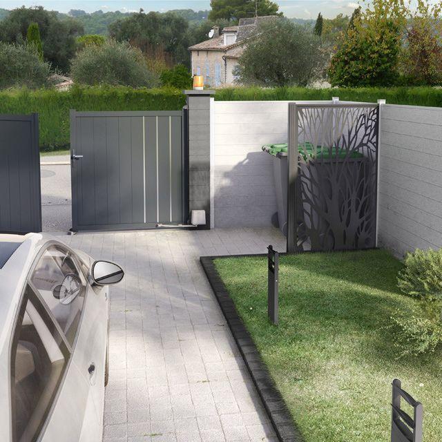 Portail En Alu Vallois 350 X H 180 Cm Castorama Entree De Maison Exterieur Idees De Patio Terrasse Arriere