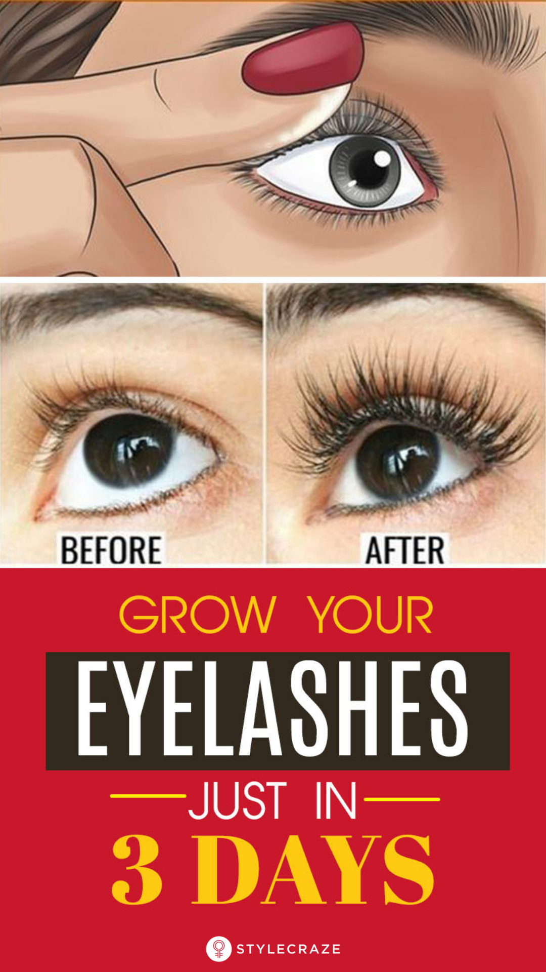 How To Get Thicker And Longer Eyelashes Using Home ...