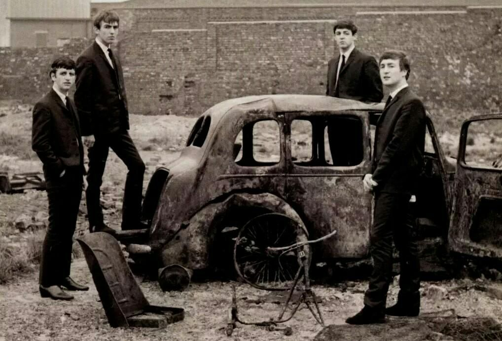 The Beatles photographed at an early shoot, 1962.  http://www.beatlesbyday.com/photo/2015/9/19/you-and-i-have-memories…