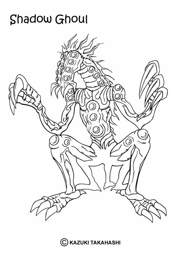 shadow ghoul coloring page from yu gi oh coloring pages is perfect for kids