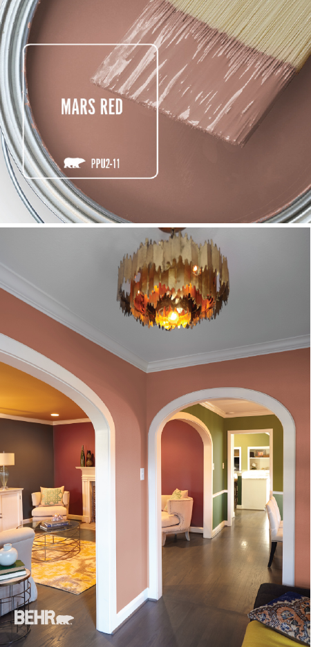 Color of the month mars red new home inspiration - Paint colors to make a room look brighter ...