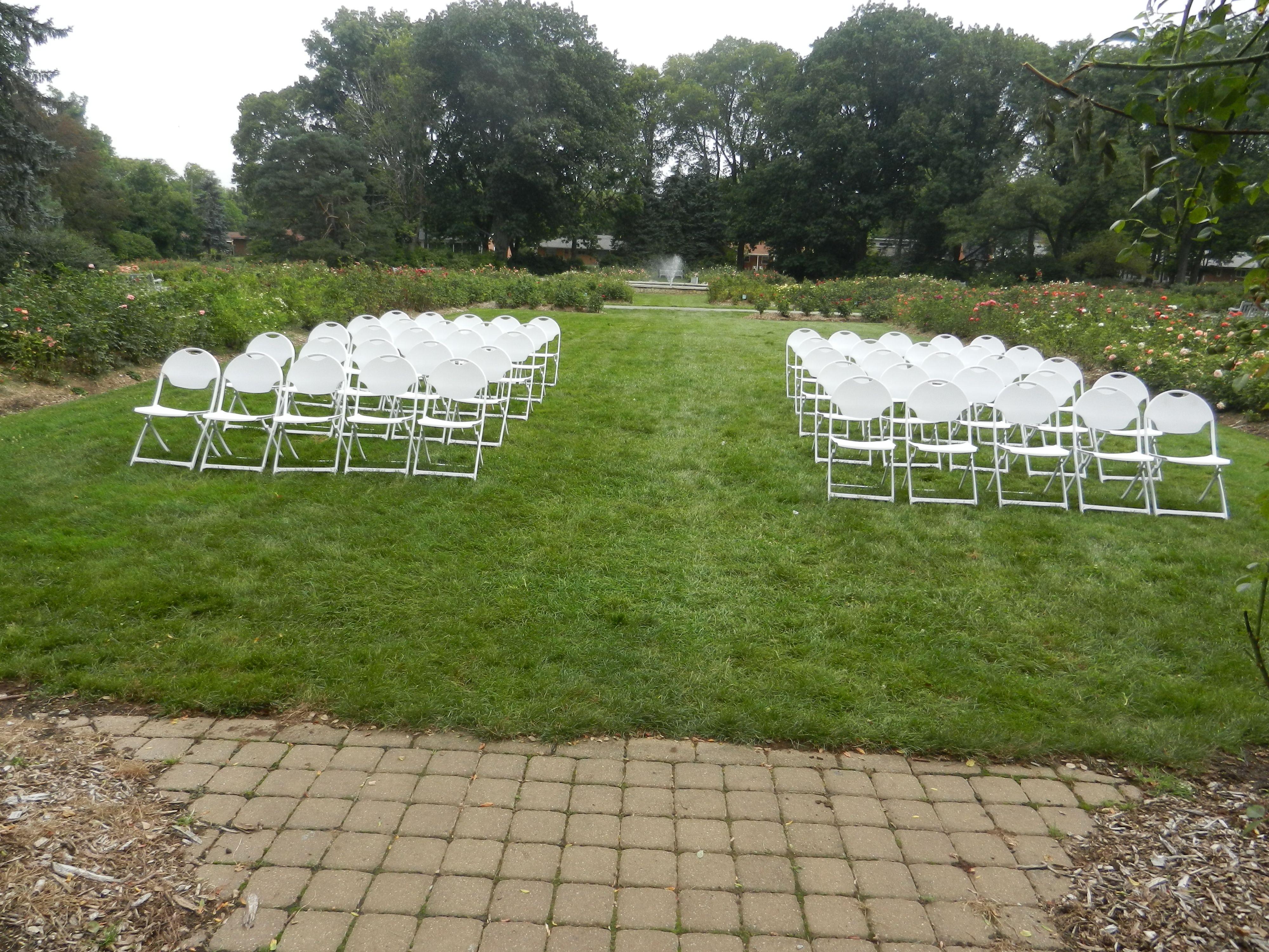 Whetstone Park Of Roses Clintonville Ohio Wedding Ceremony Decorations Ceremony Decorations Wedding Venues