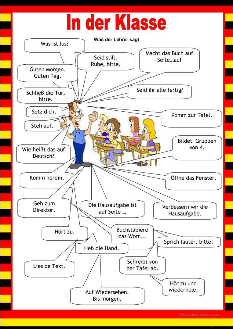 Willkommen auf Deutsch - Schule | Pinterest | German, German ...