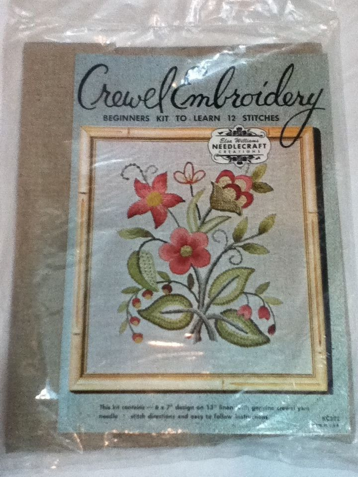 Elsa Williams Crewel Embroidery Beginners Kit To Learn 12 Stitches