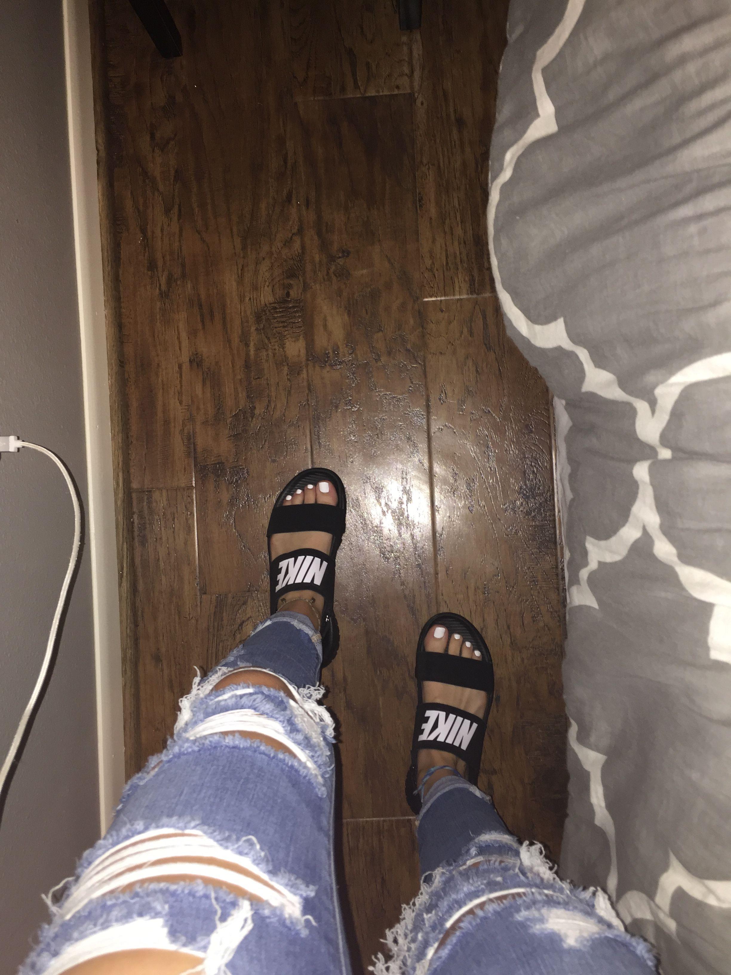 Black Nike Tanjun Sandals | Nike sandals, Black nike shoes ...