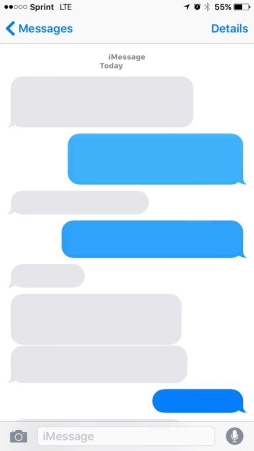 Ios Empty Text 7 Bubble