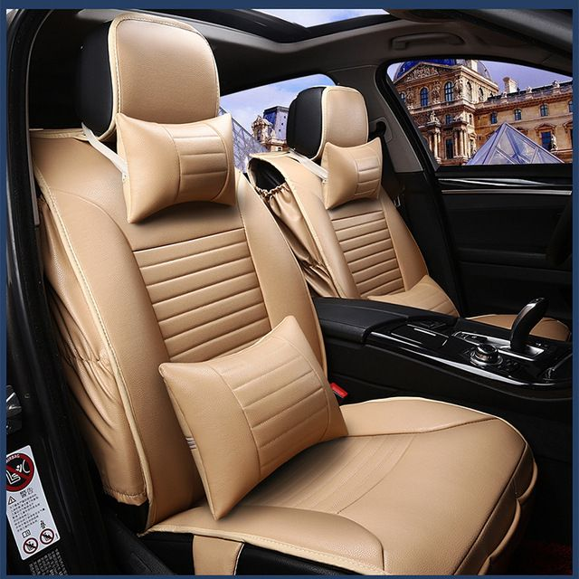 For Nissan Paladin Qashqai X Trail Murano Altima Beige Black Firm Soft Pu Leather Waterproof Fro Leather Seat Covers Cheap Interior Design Interior Accessories