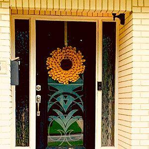 Small Natural Burlap Sunflower Wreath, Sunflower Wreath, Bur…