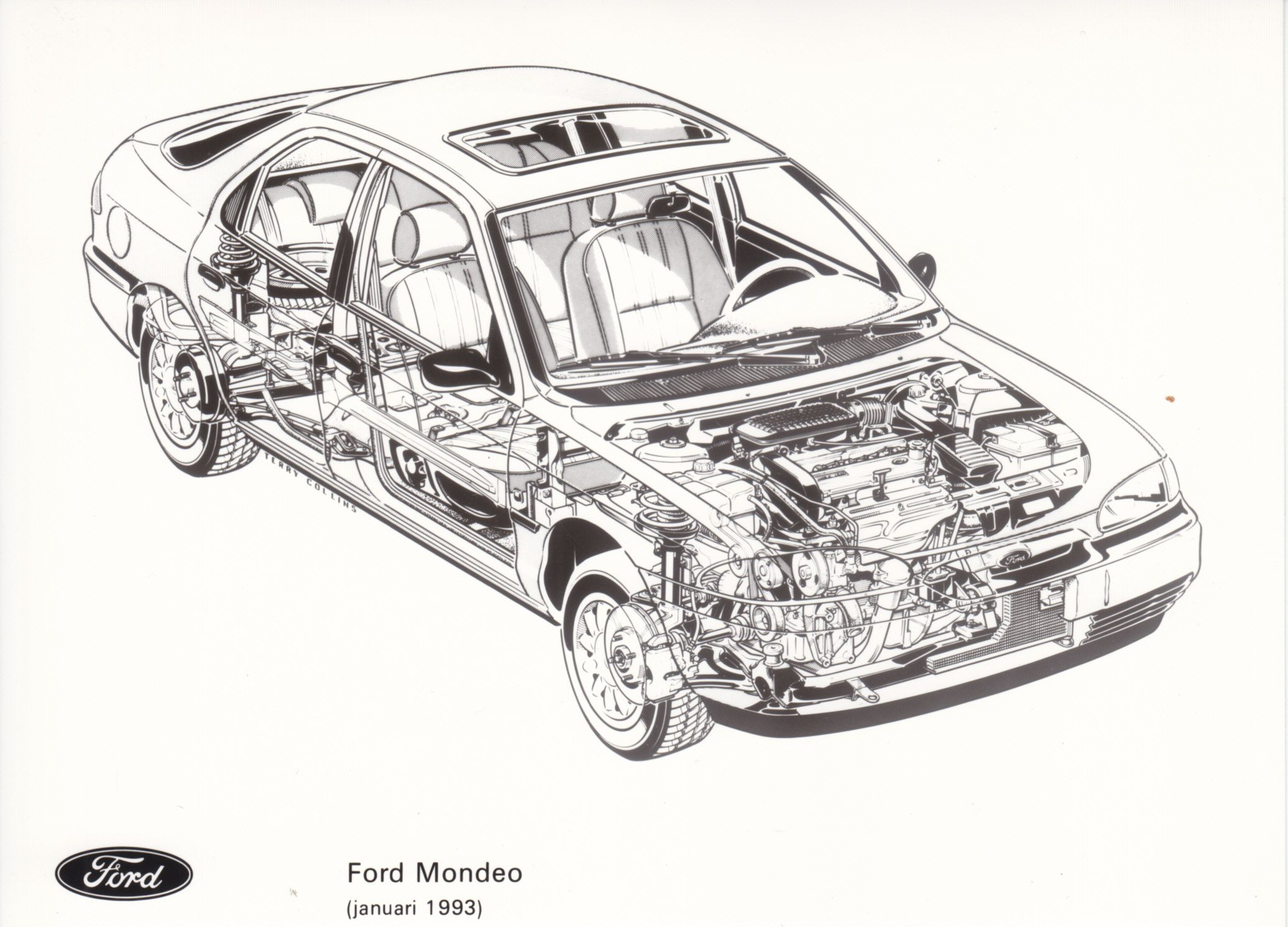 Ford Mondeo See Through Drawing Nl 01