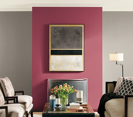 Expert Tip! Unite bright shades with feature walls, pair up with ...