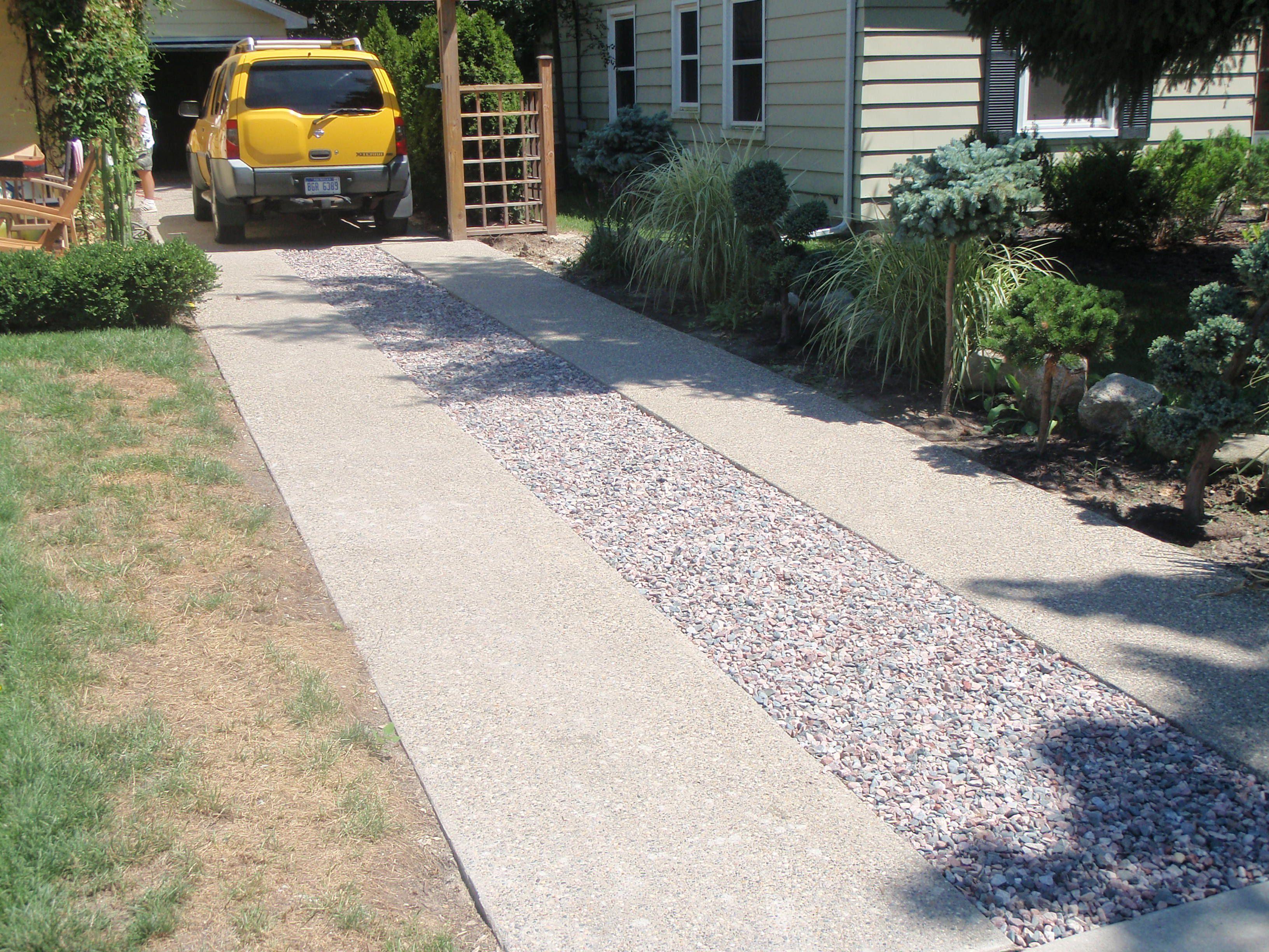Ribbon driveway driveway pinterest driveways for Driveway addition ideas