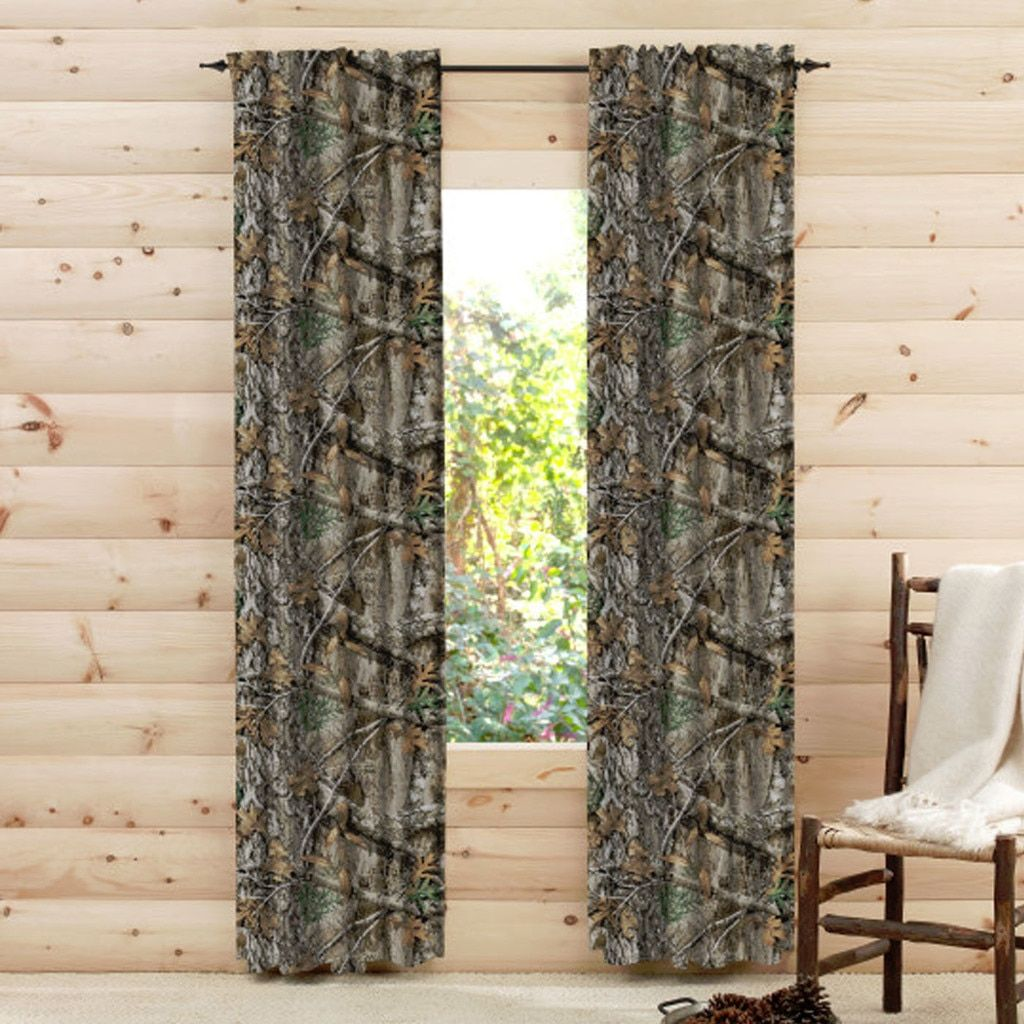 Realtree Edge Camo Window Drapes In 2020 Camo Curtains Cool Curtains Camo Living Rooms