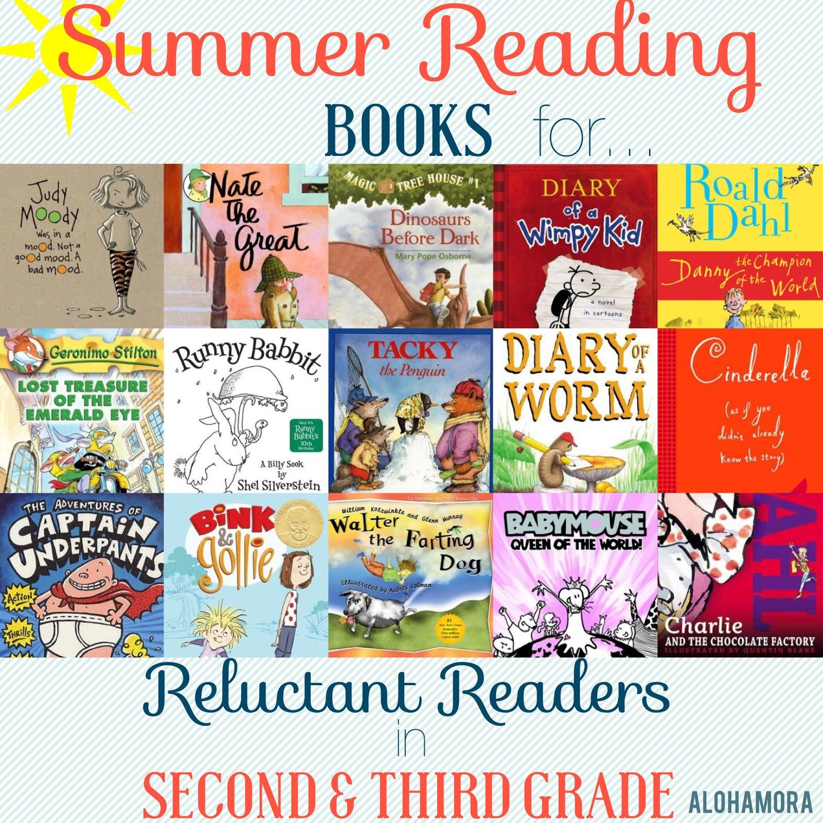 A summer reading book list for reluctant readers aka kids