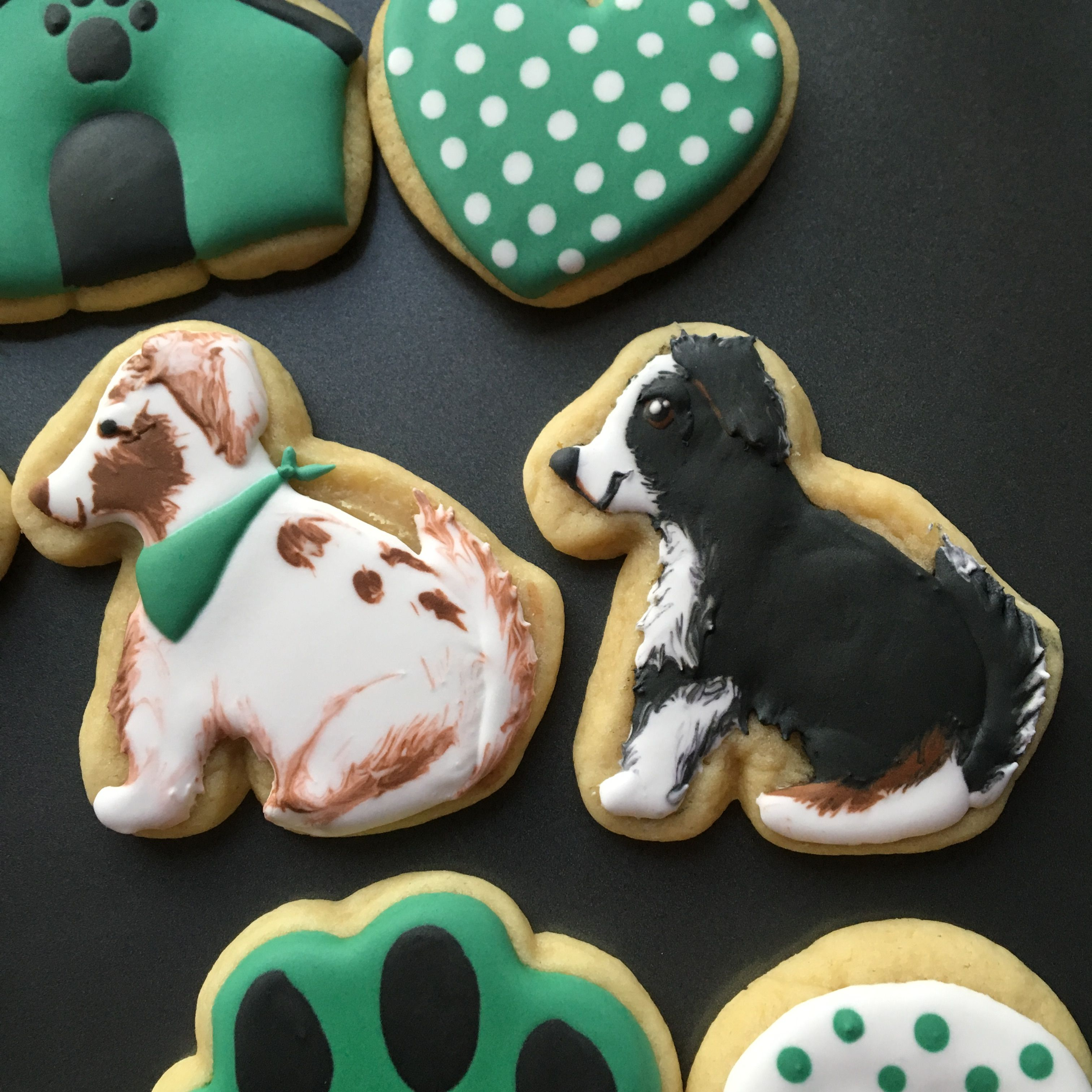Royal Icing Dog Cookies Specifically Designed To Match A Photo Of