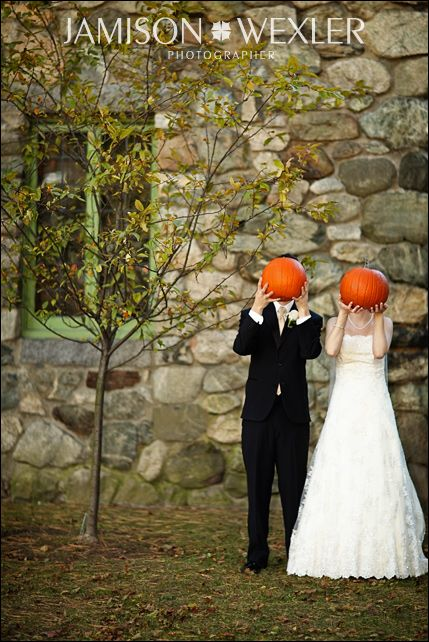 via Jamison Wexler (wouldn't these have been better if they had faces on the pumpkins?)