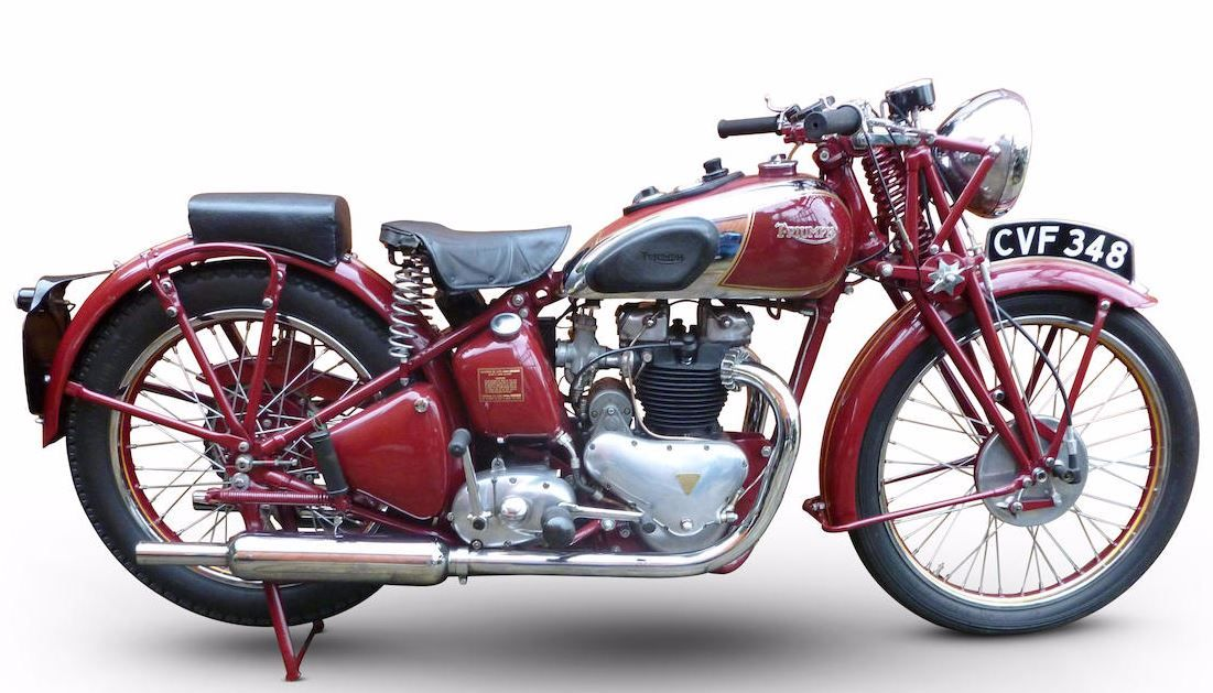 1938 Triumph 498cc Speed Twin Triumph Motorbikes Classic Motorcycles Old School Motorcycles