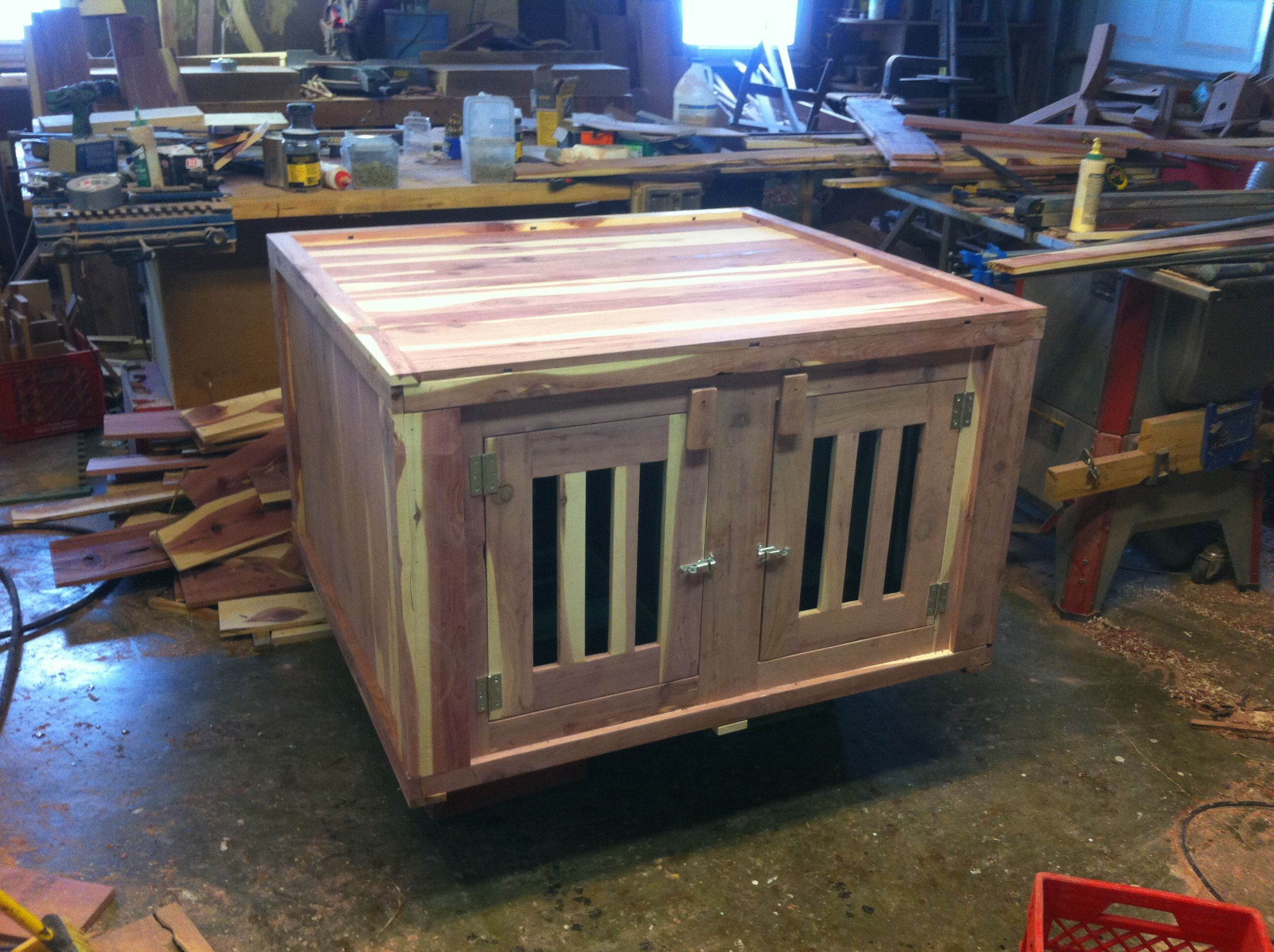 Costom made cedar dog box in Farmington mo Dog box, Dog