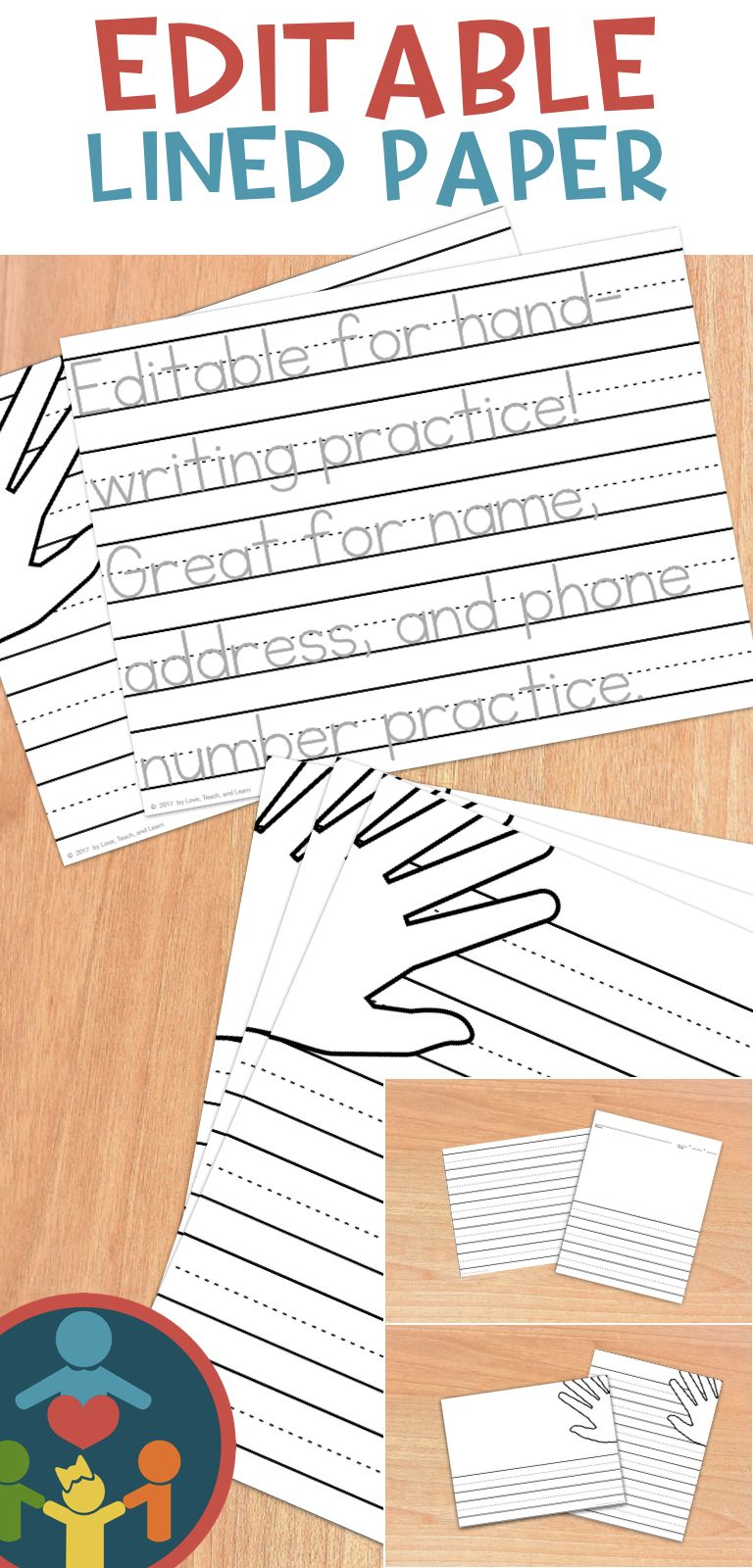 Primary Editable Writing Paper Print Handwriting Writing Paper