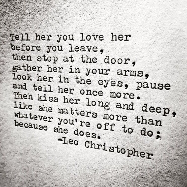Because She Does • Leo Christopher • My book, Sleeping In Chairs, is available now for preorder through the link in my bio.