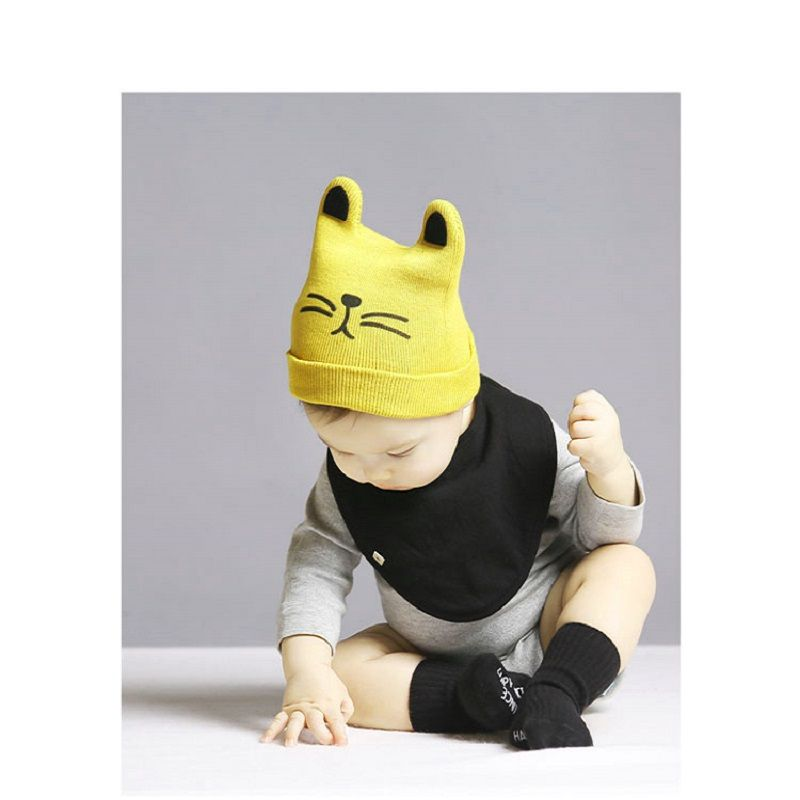 091f72c64f5 Click to Buy    0-3Y Baby Winter Hat Baby Girl knitted Cat Hat Baby ...