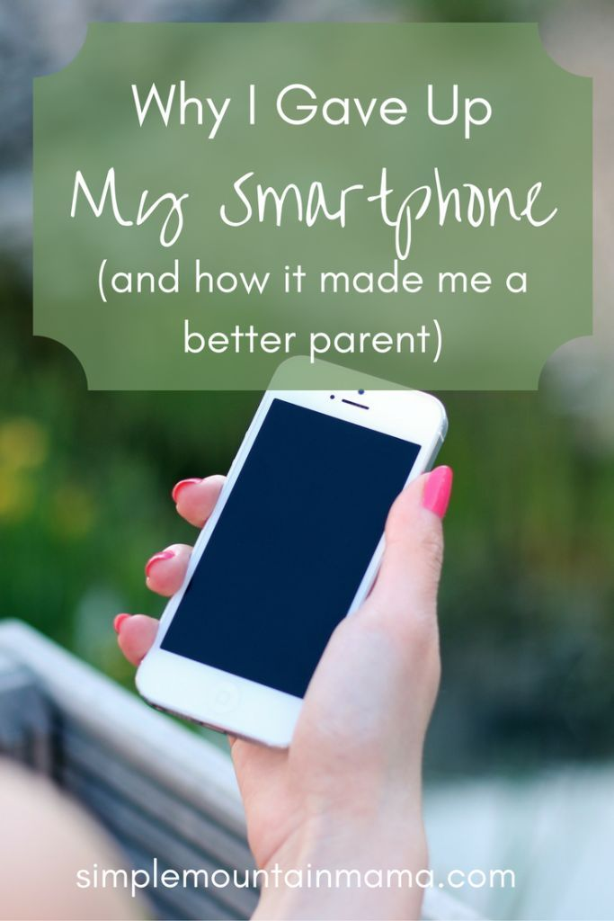 Do you have a love/hate relationship with your phone? I finally kicked my iPhone to the curb, and I'm a better mom for it. Read all about it at http://SimpleMountainMama.com!