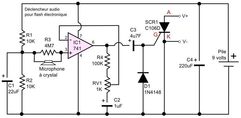Circuit déclencheur audio pour flash électronique Circuits Pinterest - Logiciel Pour Dessiner Plan Maison Gratuit