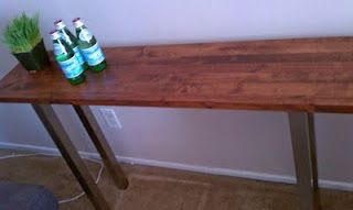 ikea wall shelf turned console table. Perfect for tv unit! easy easy directions.