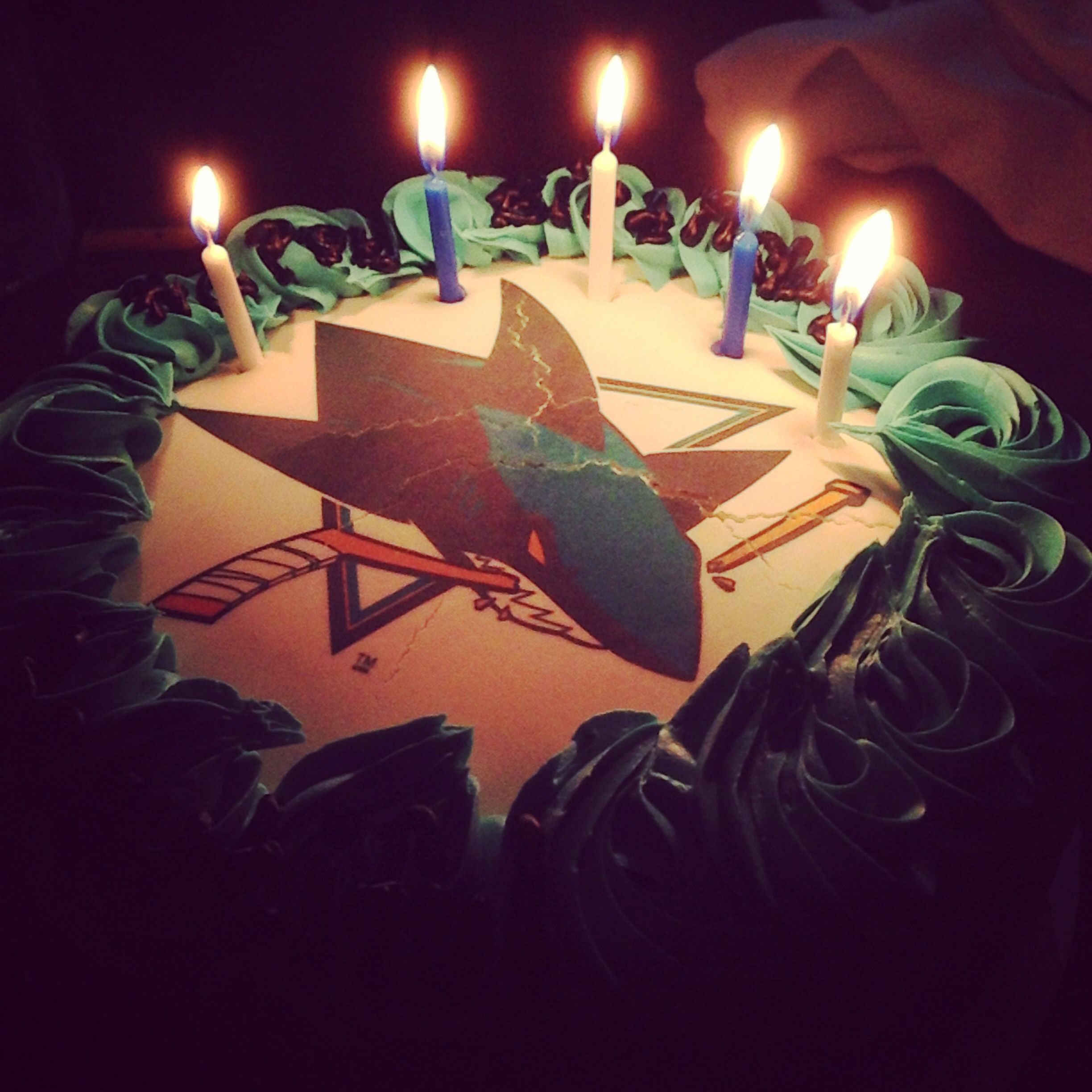 San Jose Sharks birthday cake | Sweet, Sweet Hockey | Shark birthday ...