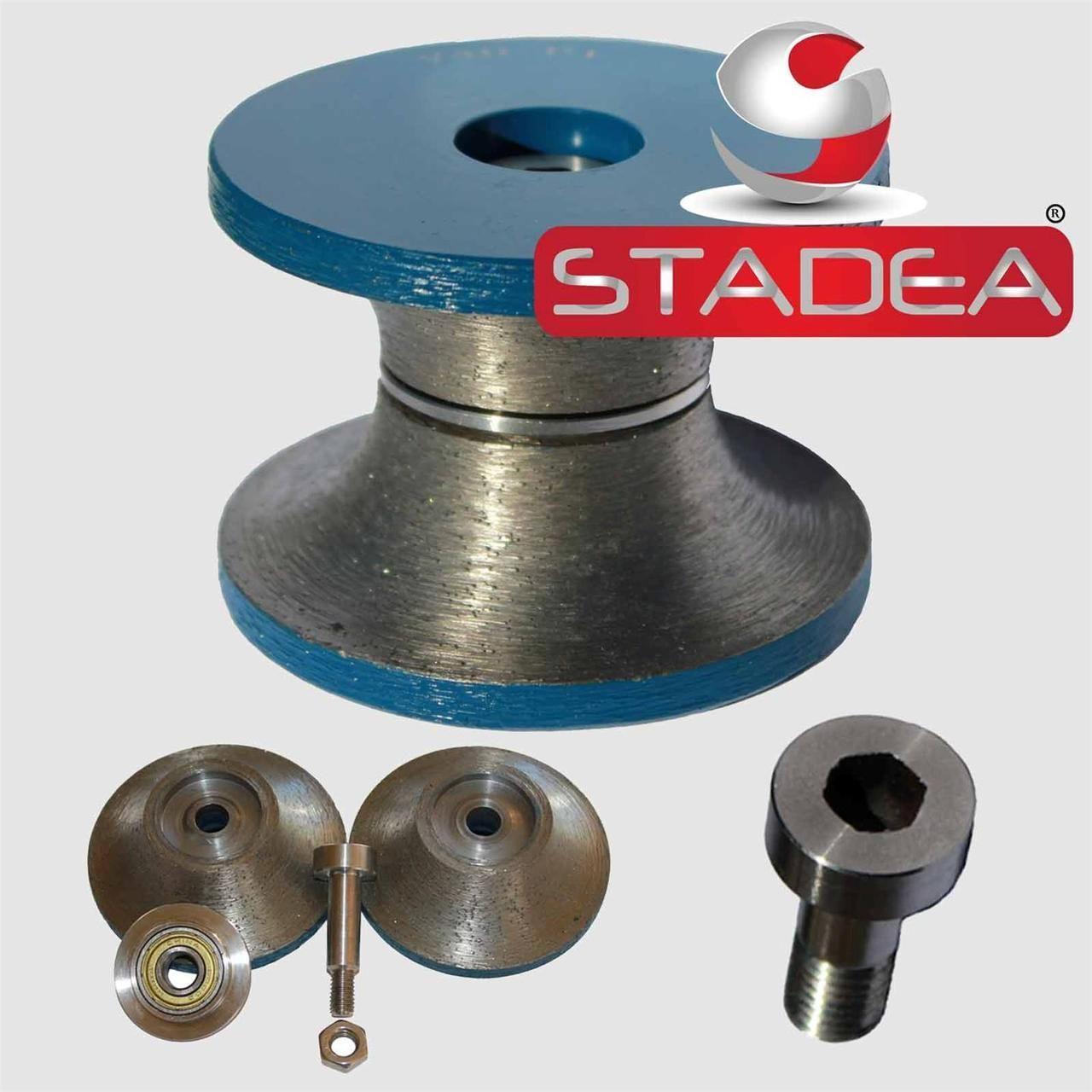 Stadea Stone Diamond Router Bits Full Bullnose 1 1 2 Inch Edge Profile Bit Grit 150 For Granite Marble Concrete Profiling V40 Router Bits Granite Stone Granite
