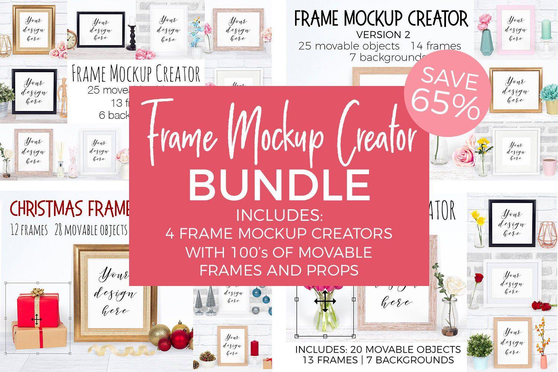 Download Frame Mockup Creator Bundle Custom Frame Mock Ups Movable Etsy Mockup Creator Design Mockup Free Free Packaging Mockup