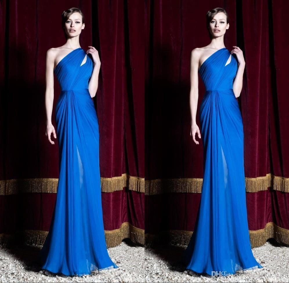 Cheap zuhair murad new royal blue evening party dresses one