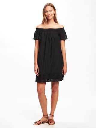 98b55a7c1f Off-Shoulder Eyelet Shift Dress for Women | Old Navy | Style ...