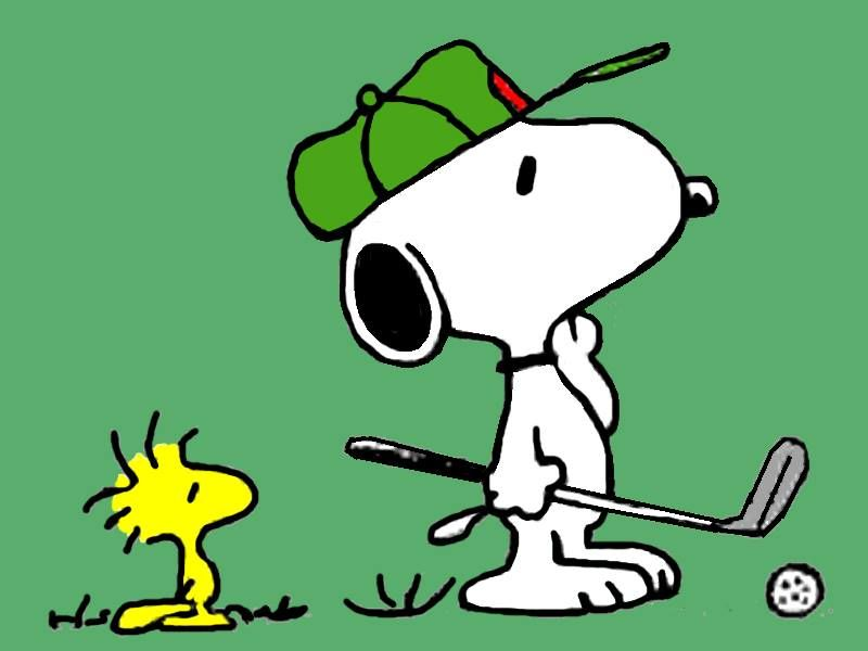 Golfing with Snoopy