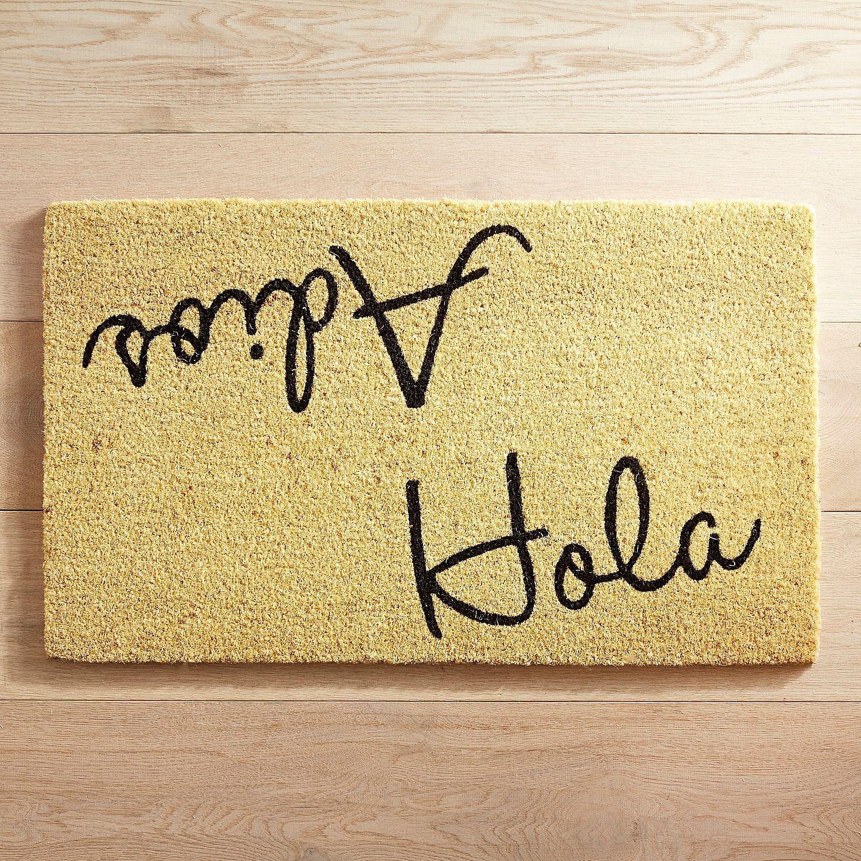 decorative doormat//Bienvenidos Bienvenidos Outdoor//Indoor Mat//Natural Coir thick material