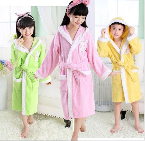 Kids children cotton #waffle bath robe dressing gown #kimono bride ...