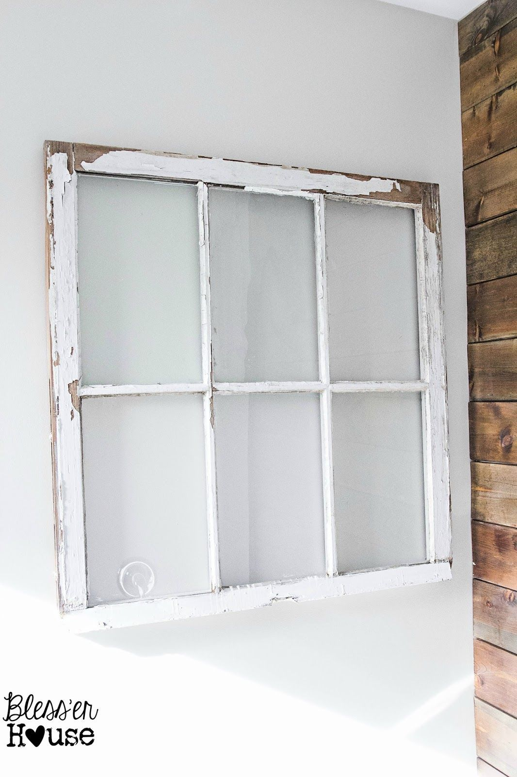 Window on wall decor  blessuer house  spring inspired rustic industrial window wall decor