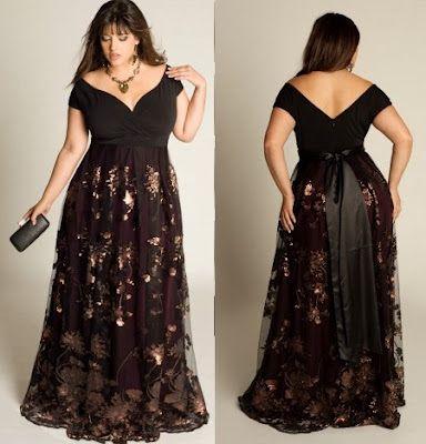 Imagenes de vestidos de noche tallas grandes