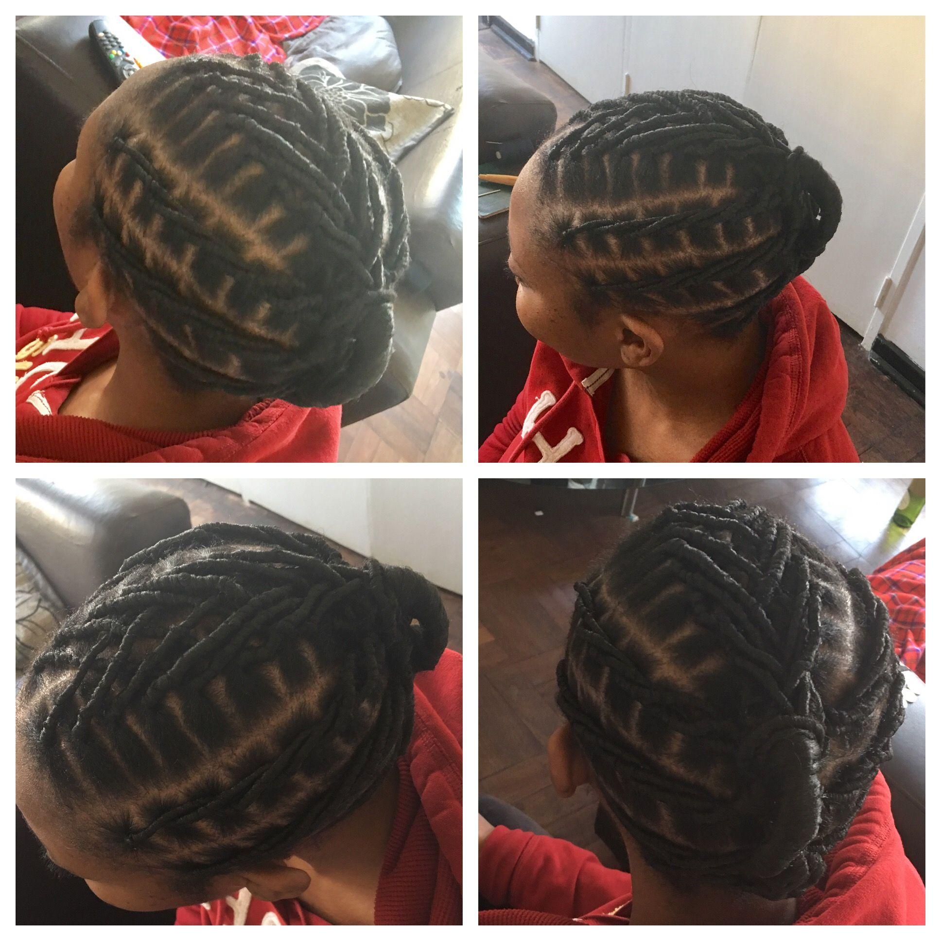 Mabhanzi Brazilian Wool African Threading Style Natural Hair Styles For Black Women Brazilian Wool Hairstyles Natural Hair Styles